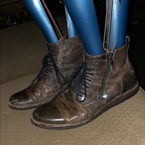 John Varvatos lace zipper boots